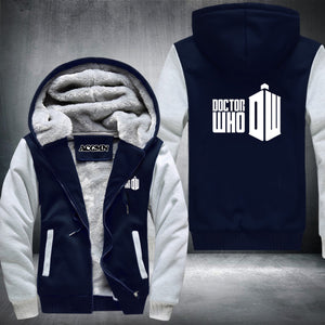 Doctor Who Super Warm Thicken Fleece Zip Up Hoodie Jacket