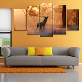 Elk Deer 5 Piece Canvas Wallart - HD Quality
