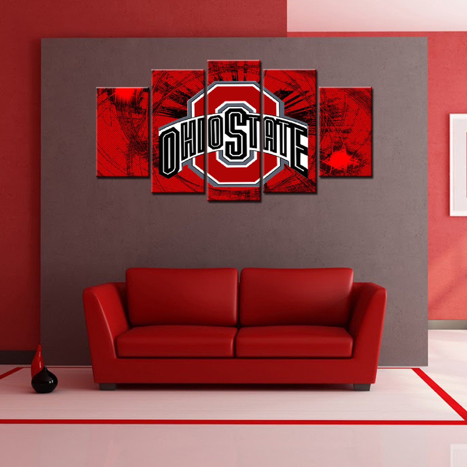 Ohio State Wall Art ohio state 5 pieces canvas wall art hd printed - offersplace