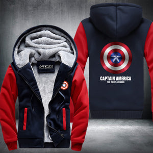 Captain America SUPER WARM THICKEN FLEECE ZIP UP HOODIE JACKET  OffersPlace