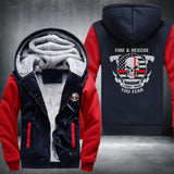 Fire & Rescue Super Warm Thicken Fleece Zip Up Hoodie Jacket