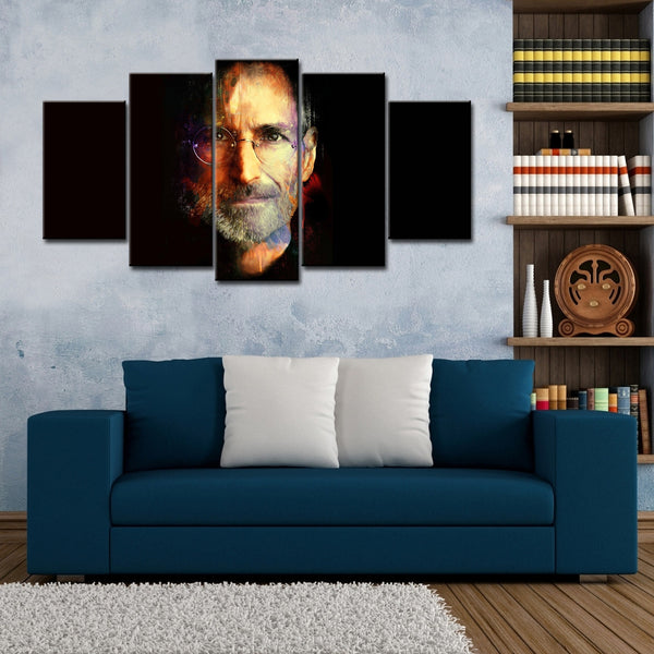 5 Pieces Of  Steve Jobs Canvas Wall Art For Living Room - HD Quality