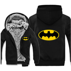 SuperMan Warm Thicken Fleece Zip Up Hoodie Jacket