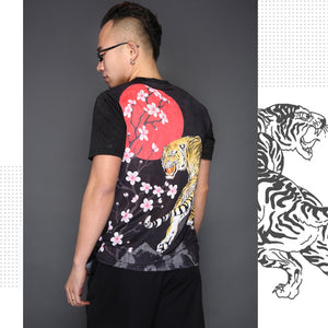 3D Printing Squid Short-Sleeved Ethnic Style Tattoo Pattern