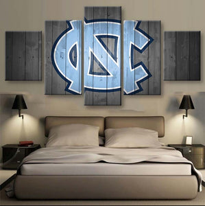 Tar Heels 5 Pieces Canvas Wallart - HD Quality