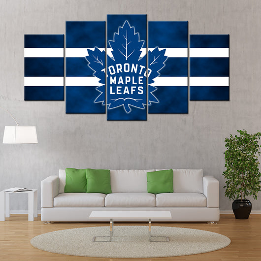 Toronto Maple Leafs 5 Piece Canvas Wallart - HD QUALITY