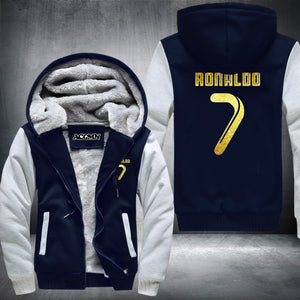 Cristiano Ronaldo Super Warm Thicken Fleece Zip Up Hoodie Jacket