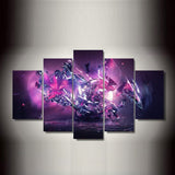 Art Flower 5 Piece Canvas Wallart - HD Quality