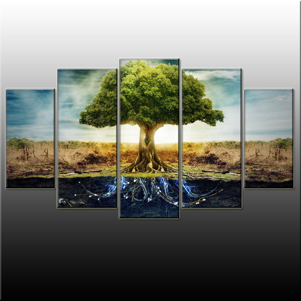 Tree Of Life 5 Piece Canvas Wallart - HD Quality