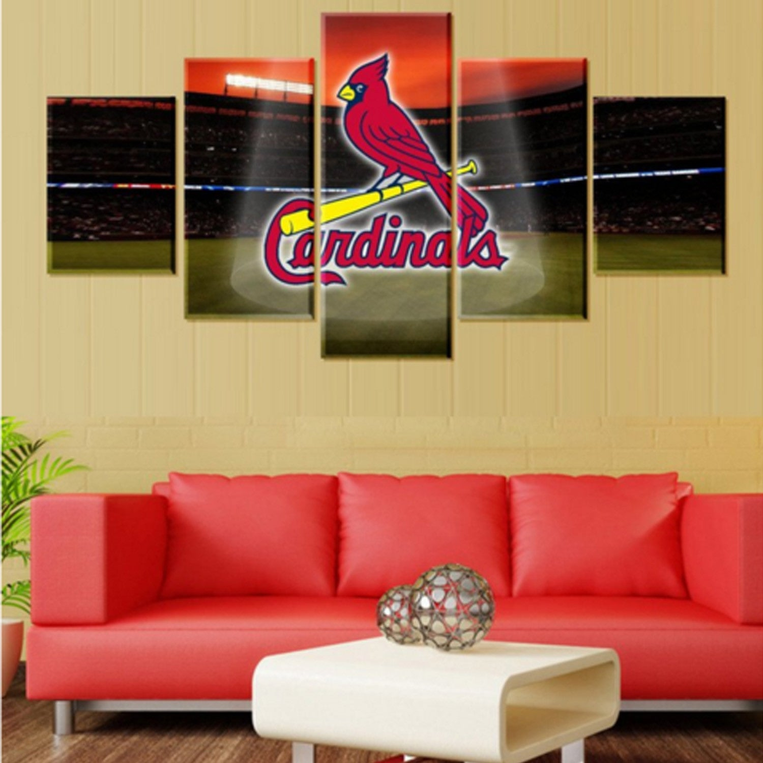 Arizona Cardinals 5 Piece Canvas Wallart - HD Quality
