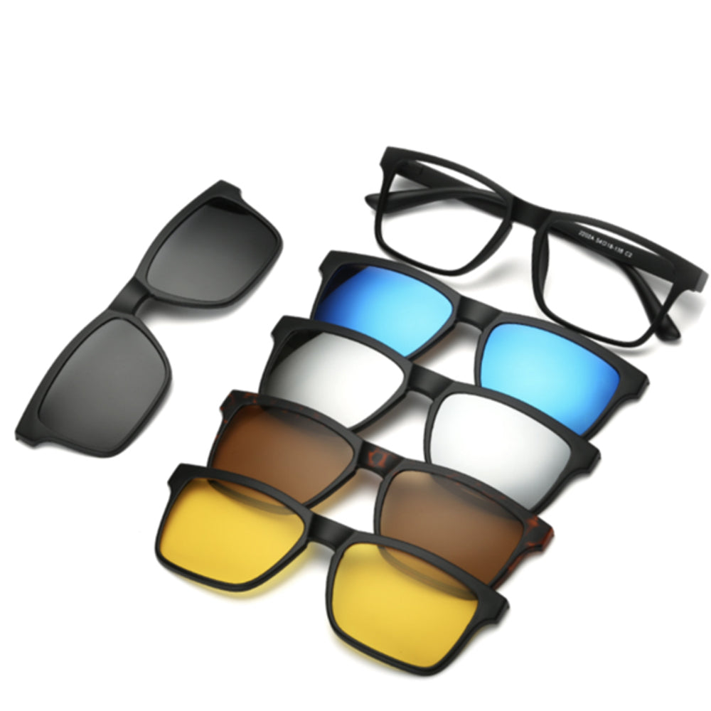 5 in 1 Magnetic Lens Replaceable Sunglasses