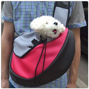 Shoulder Bag Pet Backpack Comfort Travel Animal Sling