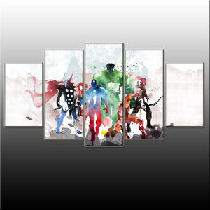 The Avengers 5 Piece Canvas Wallart - HD Quality