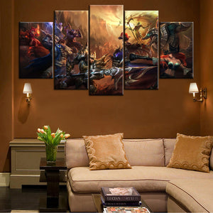 League Of Legends 5 Piece Canvas Wallart - HD Quality