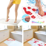 Bloody Bath Mat Color Changing Sheet Turns Red Wet