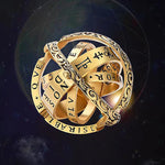 16TH Century Astronomy Ball Ring Couple Lover Jewelry Gifts