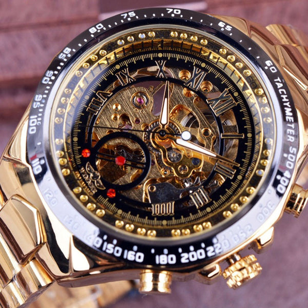 Brand New Luxury Montre Men Automatic Skeleton Wrist Watch