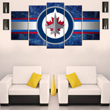 Winnipeg Jets 5 Piece Canvas Wallart - HD Quality