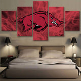 Arkansas 5 Piece Canvas Wallart - HD Quality
