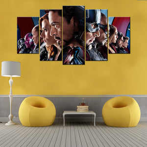Fine Captain America Modular Poster 5 Piece Canvas Wallart Hd Pdpeps Interior Chair Design Pdpepsorg