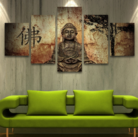 Modern Buddha 5 Piece Canvas Wall Art - HD Quality