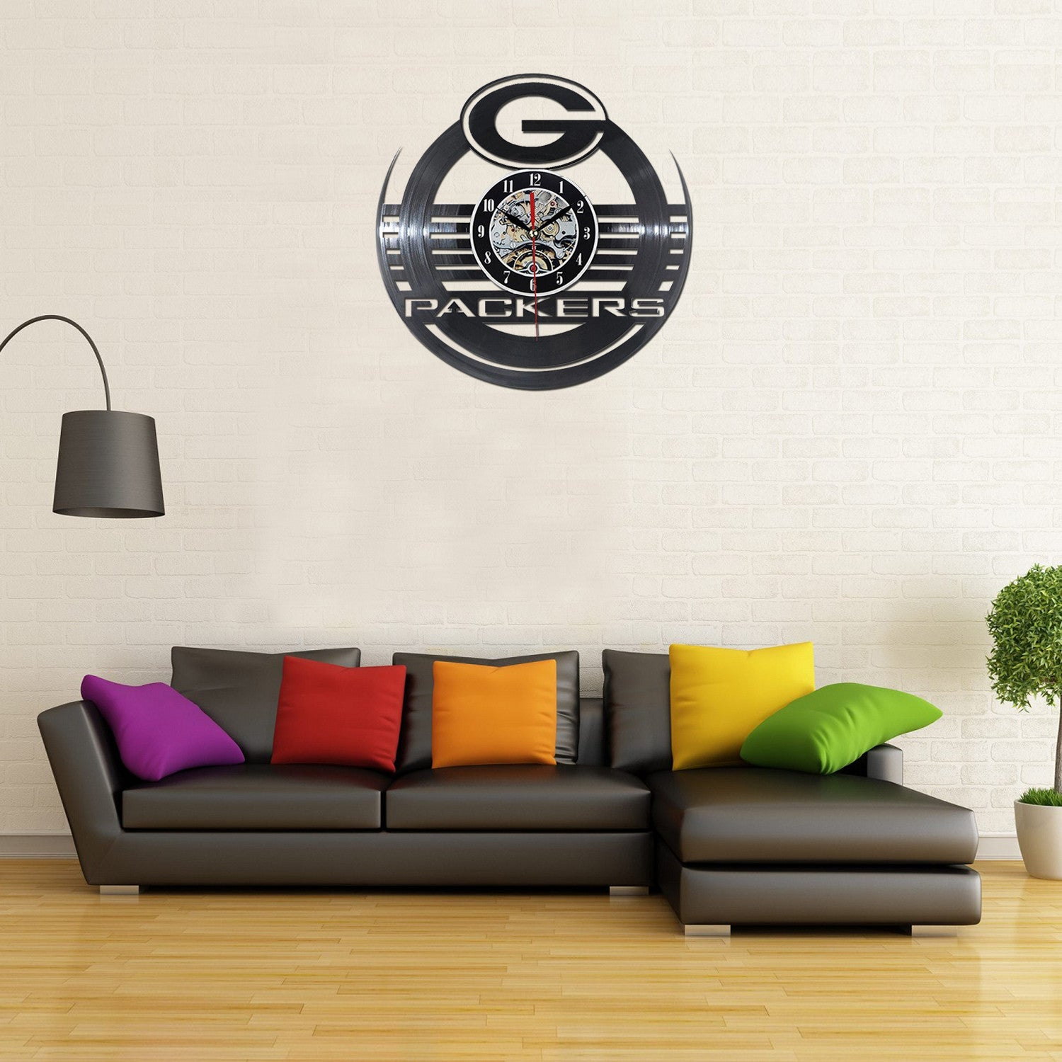 Packers 3D Vinyl Wall Clock Home Decor