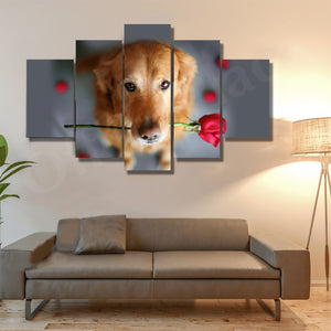 Labrador Retriever 5 Piece Canvas Wall Art-High Quality