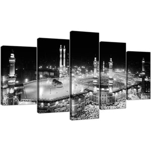 Islamic Mecca Temple 5 Piece Canvas Wallart - HD Quality