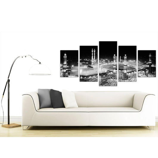 Islamic Mecca Temple 5 Piece Canvas Wallart - HD Quality – OffersPlace