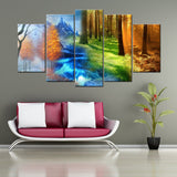 Four Seasons 5 Piece Canvas Wall Art - HD Quality