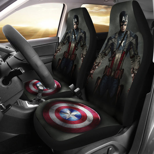 Captain America Seat Covers For all Cars
