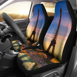 Sunrise Eiffel Tower Seat Covers For all Cars
