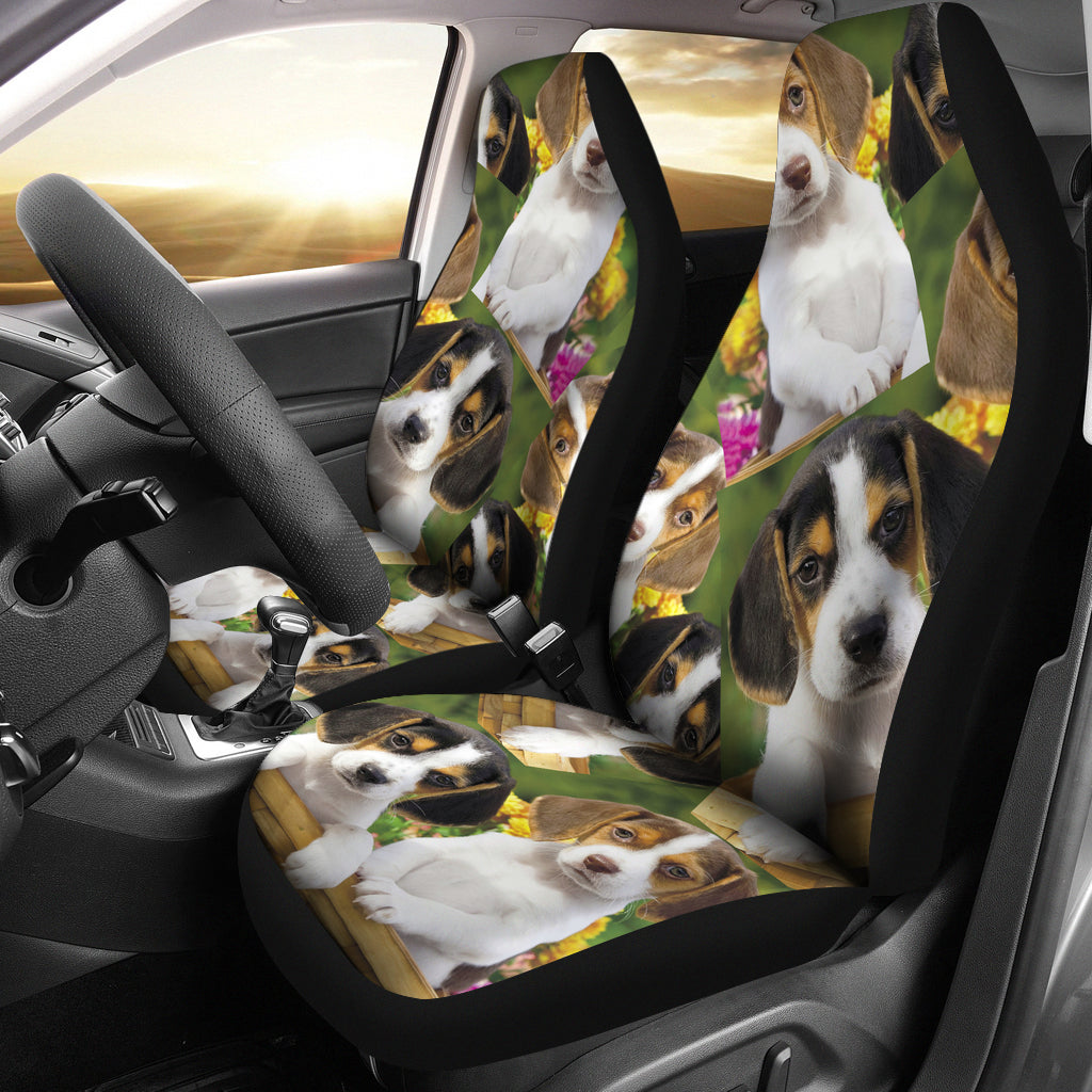 Beagle Puppies Seat Covers For all Cars