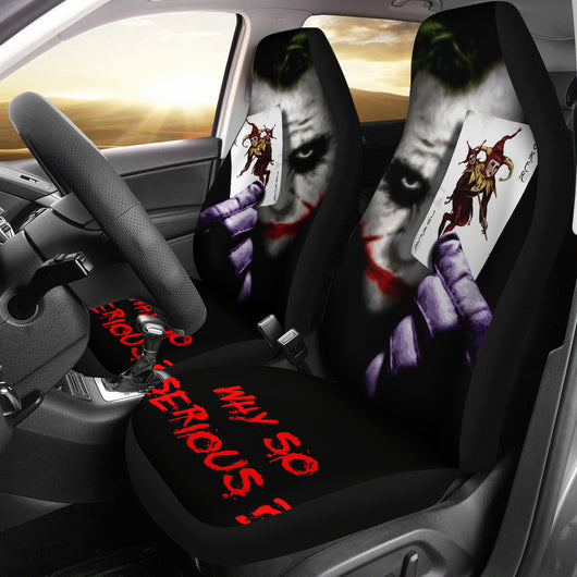 Joker Why So Serious Seat Covers For all Cars