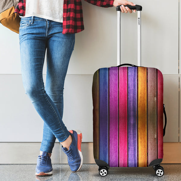 Wood Rainbow Luggage Covers