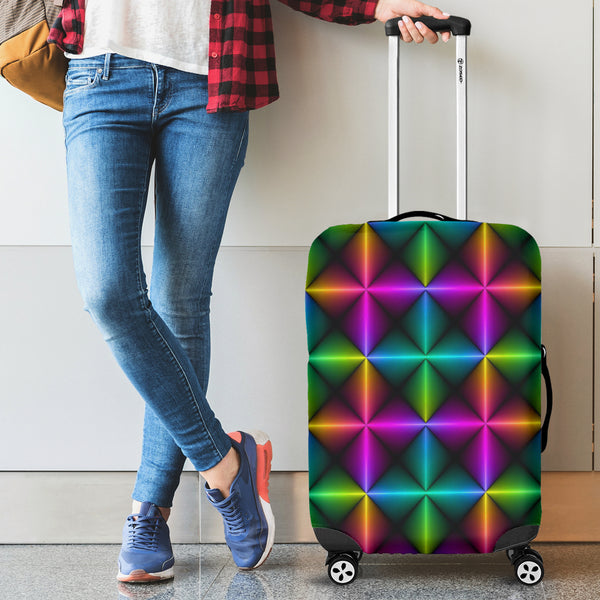 Multicolor Abstract Luggage Covers