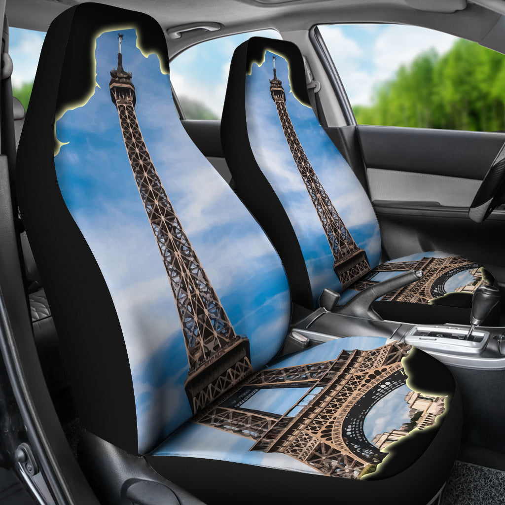 Paris Eiffel Tower Car Seat covers For all Cars