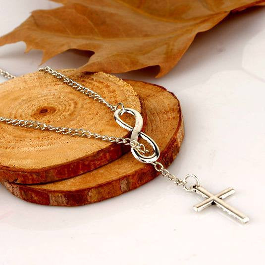 Jesus is Infinite Cross Pendant Necklace Jewelry