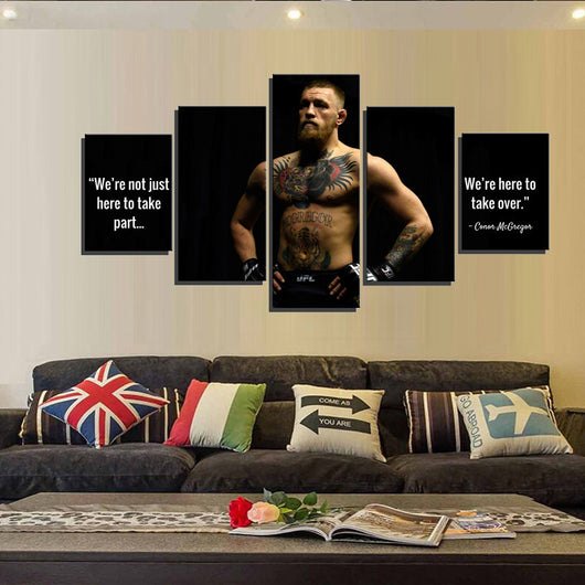 Conor McGregor 5 pieces Canvas Wallart - HD Quality