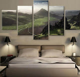 Forest Mountains 5 Piece Canvas Wallart - HD Quality