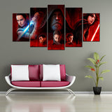 Star Wars The Last Jedi 5 Piece Canvas Wallart - HD Quality