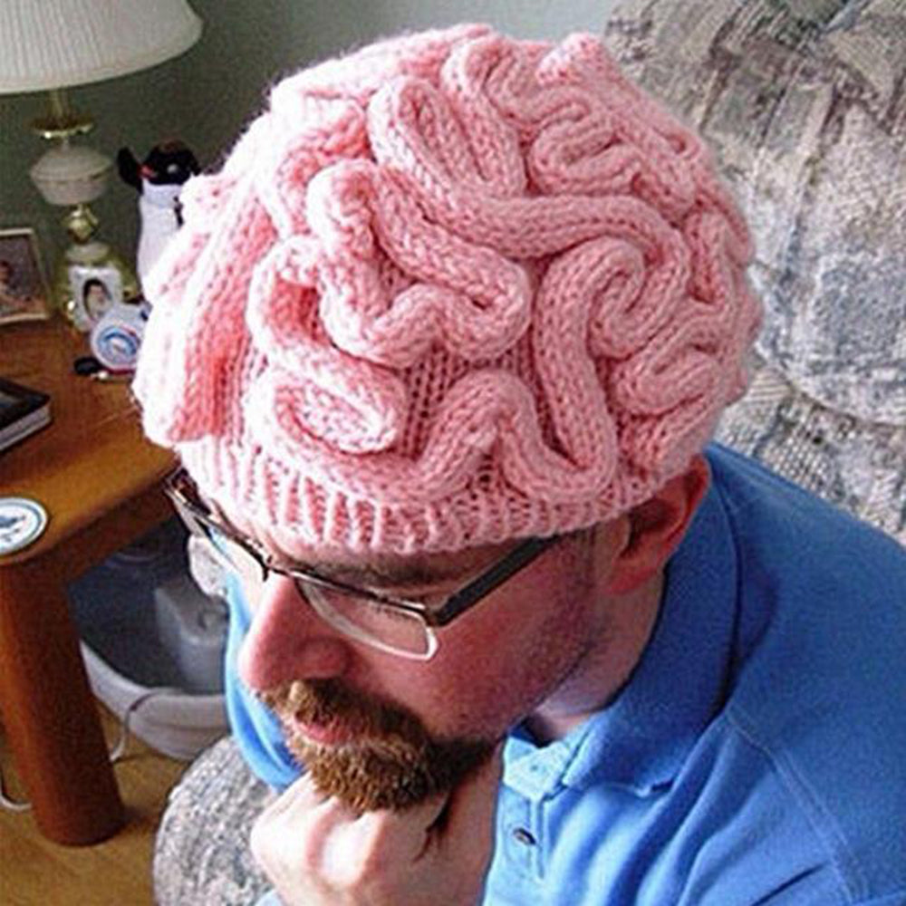 Cool Fashion Knitted Brain Beanie Cerebrum Cap