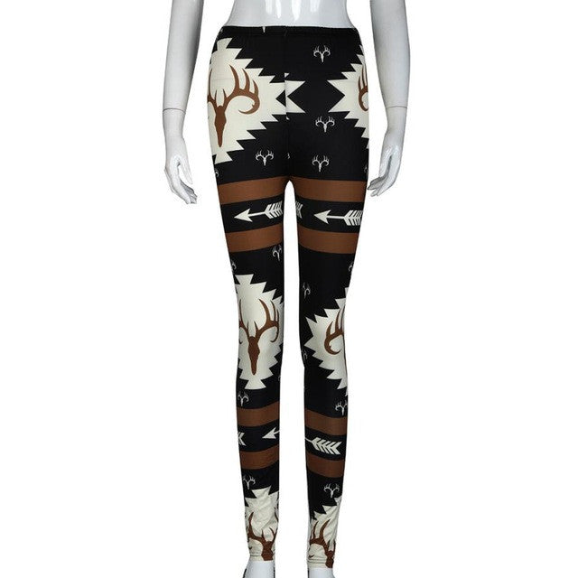 New Arrival Women Fitness Deer Printed Leggings