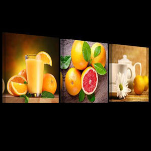 3 Panels Modern Pictures For Kitchen Canvas Wall Art HD Printed