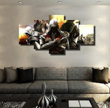 Assassin's Creed 5 Pieces Canvas Wallart - HD Quality