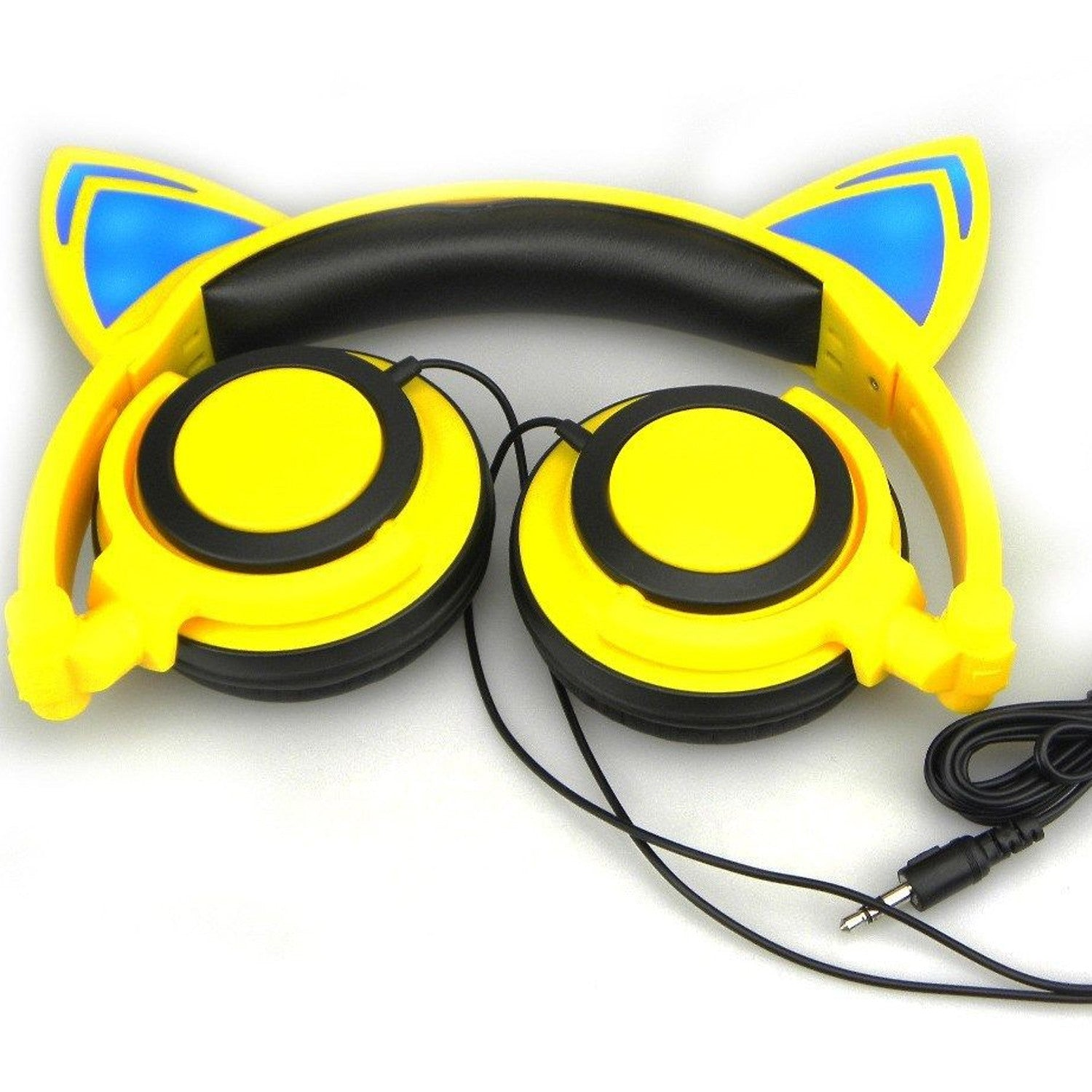 Cat ear headphones with LED light For Laptop, Computer, Mobiles.