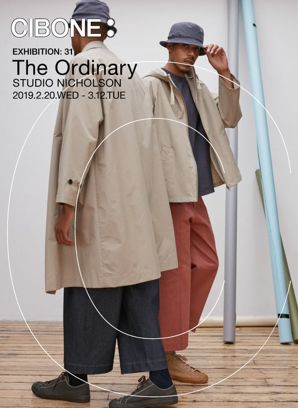 """The Ordinary""  STUDIO NICHOLSON POP UP SHOP@CIBONE Aoyama"