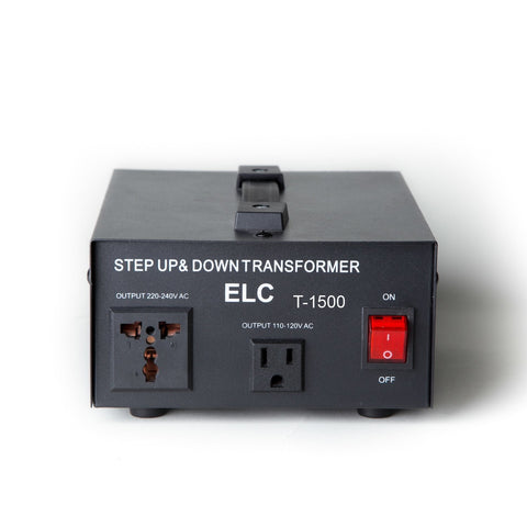 ELC T-1500 1500-Watt Voltage Converter Transformer - Step Up/Down - 110V/220V - Circuit Breaker Protection