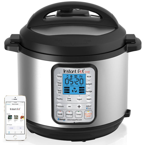 Instant Pot IP-Smart Bluetooth-Enabled Multifunctional Pressure Cooker, Stainless Steel (110-120v)