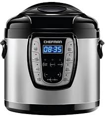 Chefman 6 Qt. Electric Multicooker, 9-in-1 Programmable Pressure Cooker, 110-120v